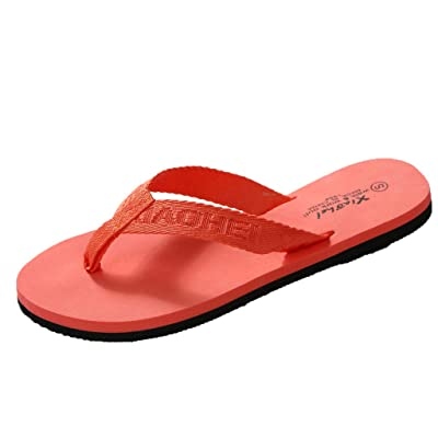 Amlaiworld Summer Women's Sandals Anti-Skid Flip Flops Flat Bottomed Casual Beach Slippers: Clothing