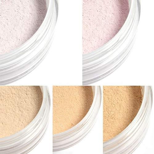 Clifcragrocl de polvos sueltos, maquillaje para mujeres Polvos faciales sueltos con una base de acabado de perfeccionamiento mineral - 1: Amazon.es: Belleza
