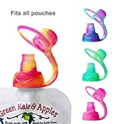 ChooMee SoftSip Food Pouch Tops   4 CT   Sorbet Swirl Color Collection