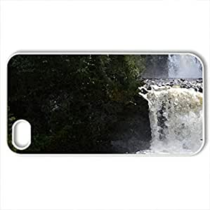 Waterfall - Case Cover for iPhone 4 and 4s (Waterfalls Series, Watercolor style, White)