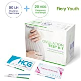 50 LH Ovulation Test Strips and 20 Hcg Pregnancy Test Strips Combo, High Sensitivity & Accurate Ovulation Predictor Kit, FDA-Approved and Over 99% Accurate Ovulation Tracker for Women Home Testing