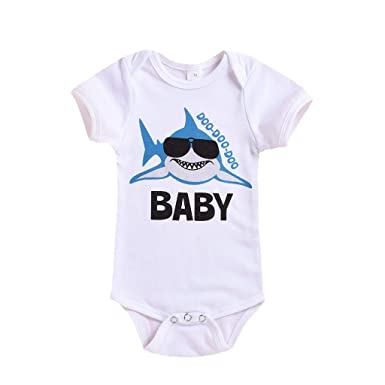 533a9d88 Amazon.com: Toddler Baby Boys Romper Jumpsuits, Newborn Cartoon Shark  Printed Baby Bodysuits Cute Outfits Clothes 0-24M Swiusd: Clothing