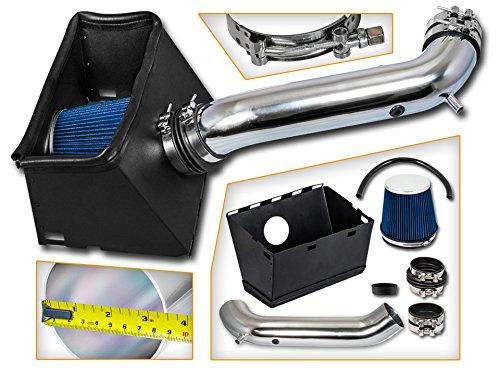 Cold Air Intake System with Heat Shield Kit + Filter Combo BLUE Compatible For 03-08 Dodge Ram 1500 V8 4.7L 5.7L V8 / 03-08 Dodge Ram 2500 5.7L V8 Blue Dodge Intake System