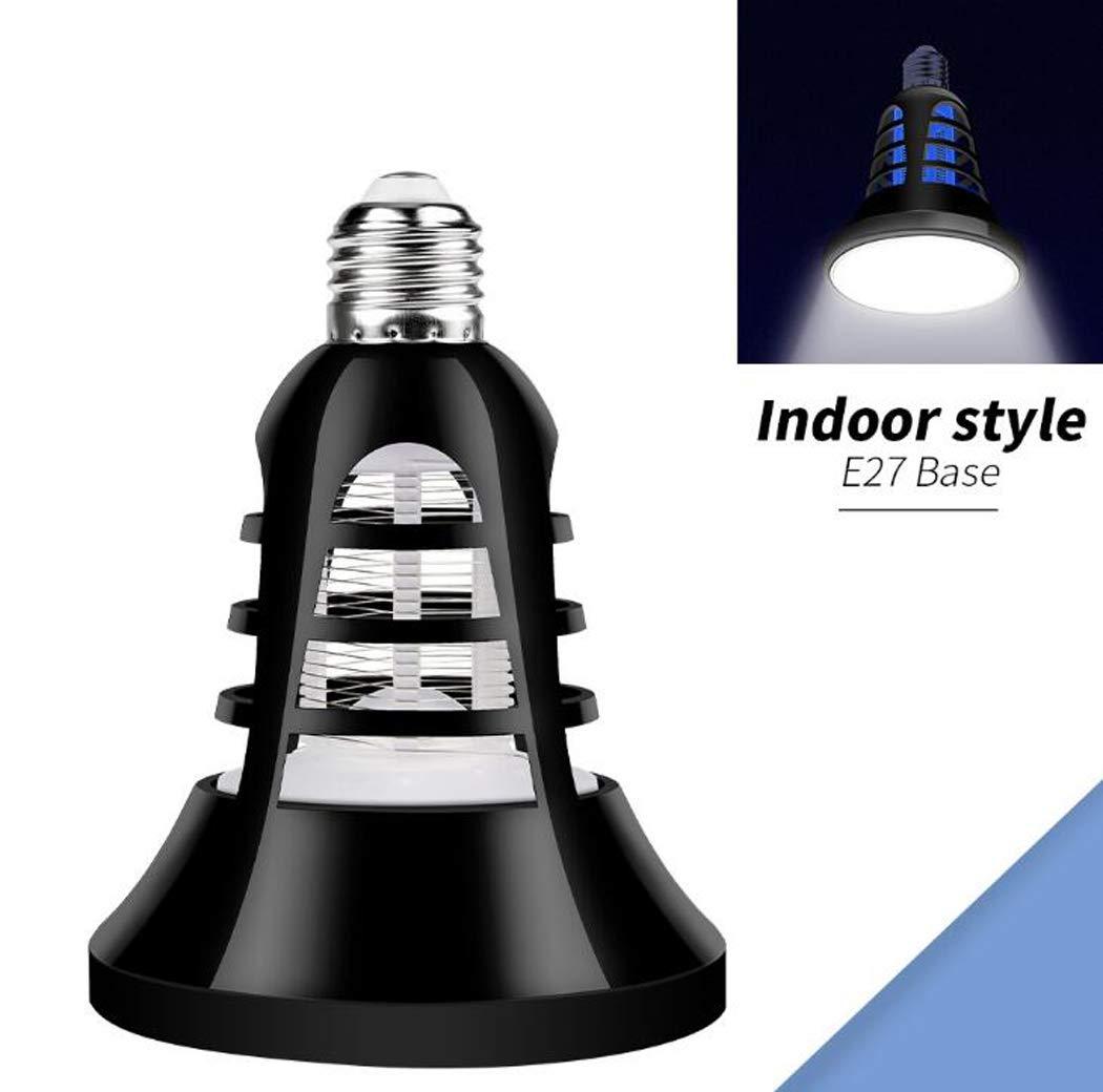 E27 Bug Zapper Light Bulb, 2 in 1 Hangable Mosquito Killer Lamp with USB Powered, Electronic Insect & Fly Killer,Mosquito Zapper,Indoor Outdoor Patio Camping,E26 E27,E27
