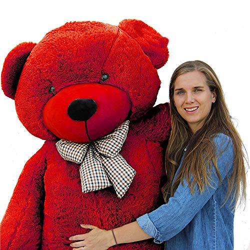 AVS Teddy Bear Stuffed Spongy Soft Toy  4 Feet, Red