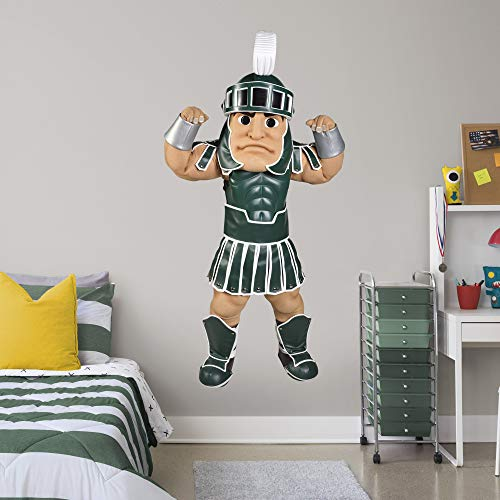 FATHEAD NCAA Michigan State Spartans MSU Sparty- Officially Licensed Removal Wall Decal, Multicolor, - Spartans Michigan Wall State