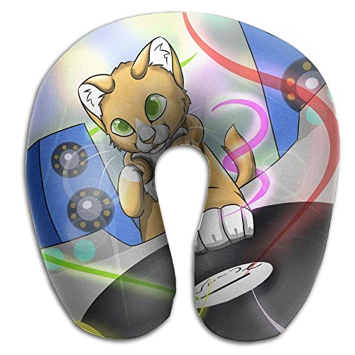 Owen Pullman Travel Pillow DJ Cat Memory Foam Neck Pillow Comfortable U Shaped Neck Support Plane Pillow -