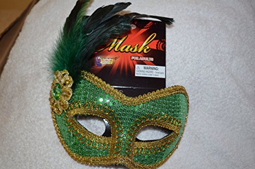 Forum Green Masquerade Mask NWT