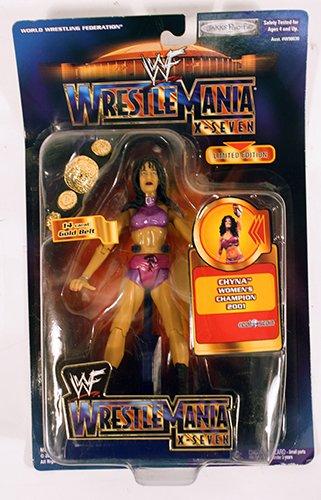 (Jakks Pacific WWF Chyna Women's Champion 2001 Wrestle Mania X-Seven Figure)