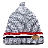 Sikye Winter Baby's Cap Newborn Infant Striped Crocheted Solid Hat Casual Daily Cozy Headwear (Gray)