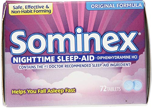 Sominex Original Formula Tablets, 72 ea (Pack of 11)