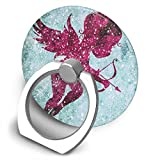 Round Finger Ring Stand Phone Holder Grip Pink Cupid Anchor 360°Rotation Kickstand for Smartphones and IPad
