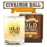 Scented Candles - Cinnamon Roll - Decorative Aromatherapy - 11-Ounce Soy Candle