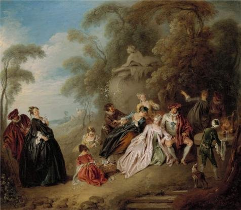 Oil Painting 'Jean Baptiste Pater,Le Gouter,1725-1730', 8 x 9 inch / 20 x 23 cm , on High Definition HD canvas prints is for Gifts And Foyer, Home Theater And - Hours Target Niles