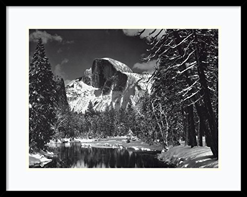 (Framed Art Print, 'Half Dome, Winter - Yosemite National Park, 1938' by Ansel Adams: Outer Size 29 x 23