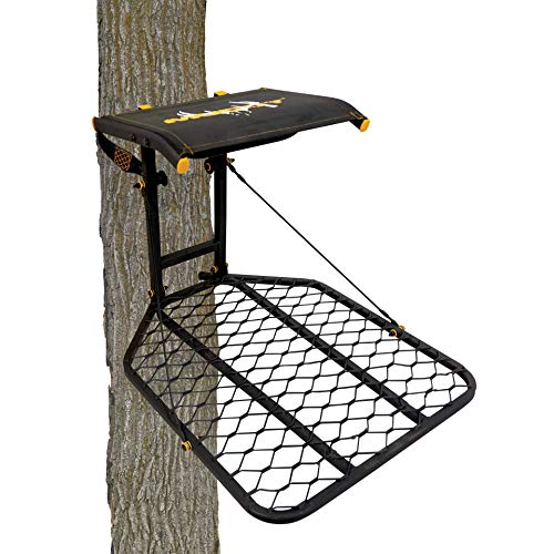 Muddy The Boss Hang-On Treestand- Silent Straps, Flex-Tek Comfort Seating, Extra Wide Platform