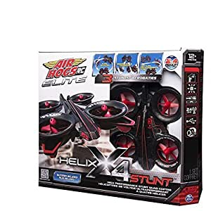 Air Hogs RC Elite Helix X4 Stunt Quad-Copter and Batteries Gift Set by Spin Master Black/Red