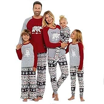 Amazon Com Sesy Family Christmas Pajamas Mama Little Papa