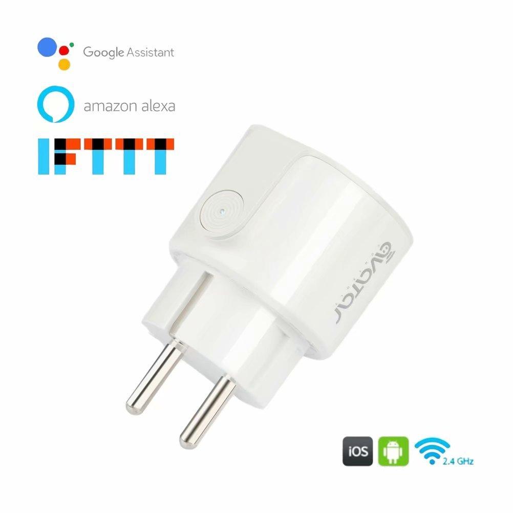 Smart Stecker EU Steckdose, Avatar Controls Mini Wireless Timing WALN Smart Steckdosen mit Energieü berwachung, kompatibel mit Alexa/Google Assistant(2)