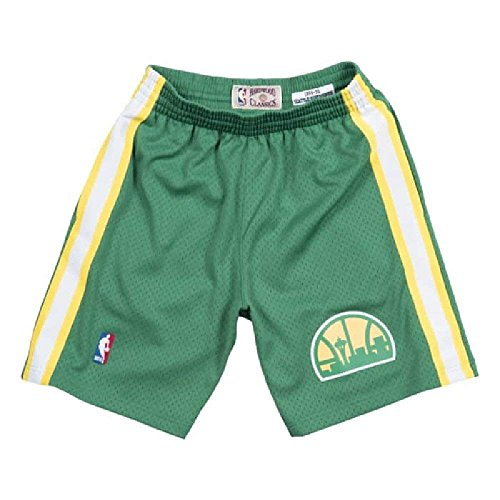 Mitchell & Ness Seattle Supersonics NBA Men's 1994-95 Swingman Road Shorts Green (X-Large)