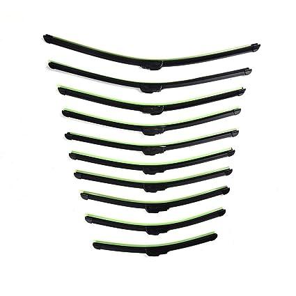 kingpo Limpiaparabrisas para Automóviles Automóviles Deshuesadoras Deshuesadas Universal