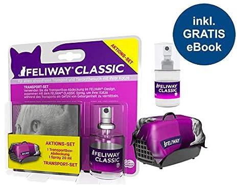 Feliway Classic Juego de Transporte (Spray 20 ML + Transporte boxab Cobertura) Incluye Gatos de wohlfüh Guía de Animales glück24: Amazon.es: Productos para ...