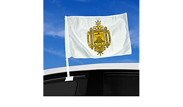 Durable and Long Lasting ExpressItBest Double Sided Car Flag 12 x 15 with US Army Signal Corps Branch Plaque