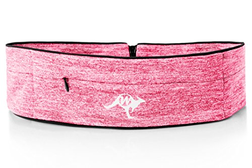 Waist Belt Polyester Zipper Bag for Men Women Fuchsia - 2
