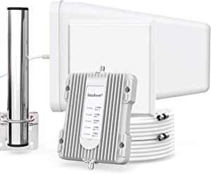 Amazboost Indoor Cell Phone Signal Booster for Home and Office, up to 5,000 Square Foot Area, All U.S. Carriers - Verizon, AT&T, T-Mobile, Sprint & & FCC Approved 4G 3G 2G Cell Phone Signal Amplifier
