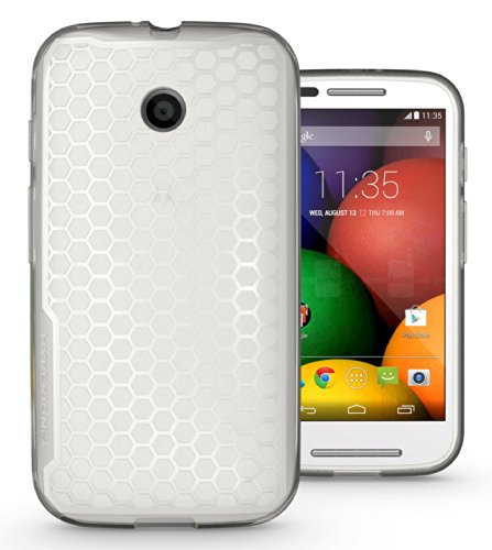 Matte Frost Combs - Hyperion Motorola Moto E (XT-1021) HoneyComb Matte TPU Case / Cover (Fits Standard Size Battery) [2 Year No Hassle Warranty] (CASE ONLY. Does not include battery or phone) **Hyperion Retail Packaging** - FROST