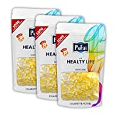 Cigarette filters. 3000 piece ( 3 reusable pack 1000 filters) disposable regular size [8 mm] cigarette filters holder. New 8 hole strong filtration system by Pufai