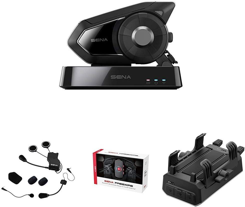 Sena 30k 10 Wi Fi Pack Motorrad Bluetooth System Sc A0315 Universal Helmklemmsatz Freewire 02 Bluetooth Cb Und Audioadapter Powerpro 01 Powerpro Handlebar Phone Auto