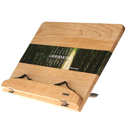 CAMINO LUXURY BOOK STAND 400 100% Purely Natural Wood | Eco friendly | Automatic Angle Adjustment in 12 steps book stand | holder | reading desk