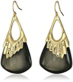 Alexis Bittar Crystal Studded Pleated Wire Ash Drop Earrings