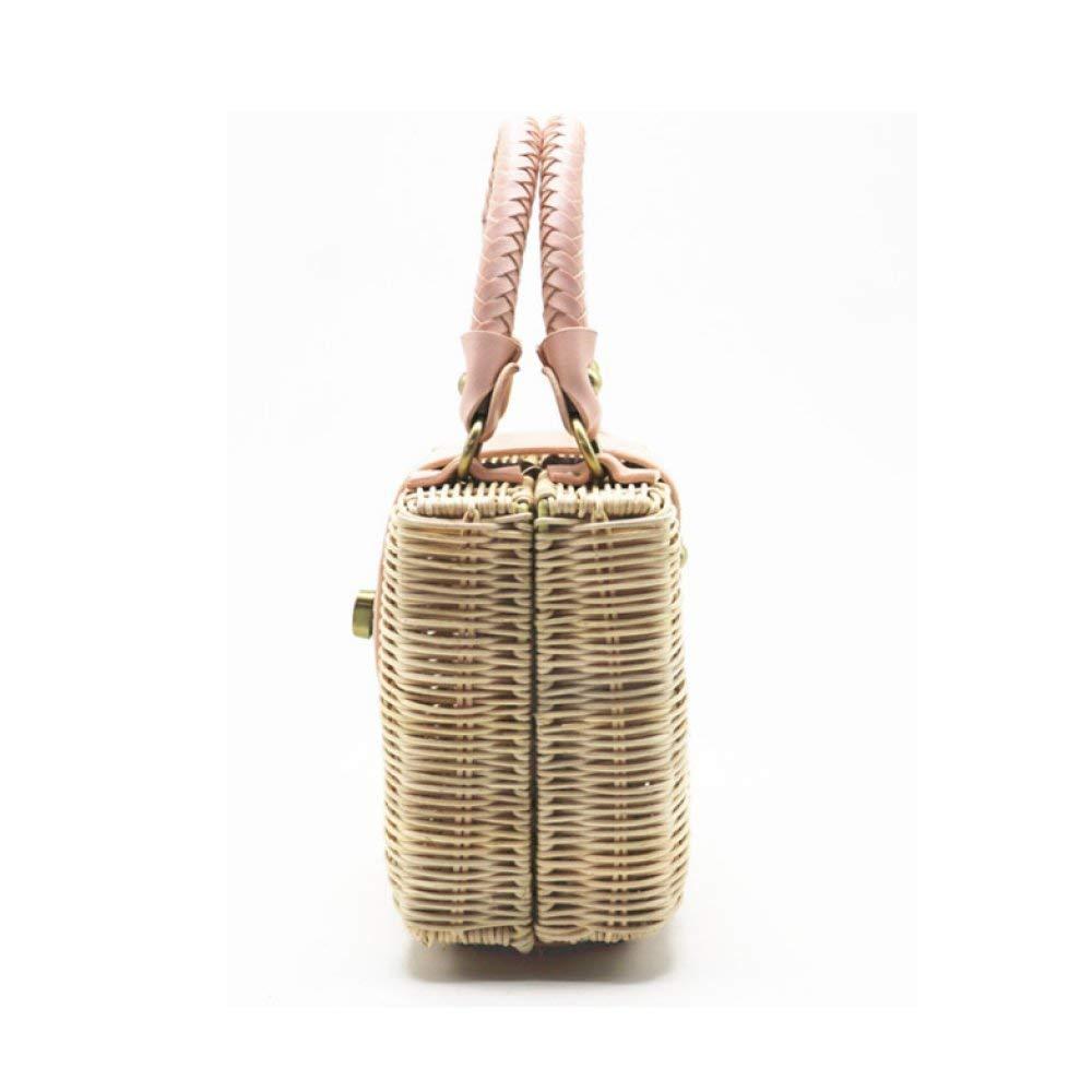 Willsego Frauen-Stroh-Beutel-tragbarer Schulter-justierbarer Handtaschen-Strand-einfache Tendenz-Mode täglich täglich täglich (Farbe   Beige, Größe   Einheitsgröße) B07KCYZZ4M Schultertaschen Ausgezeichnete Qualität e4dd72
