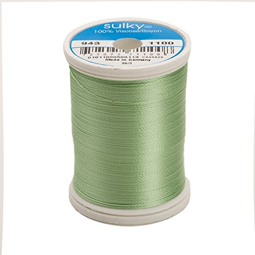 (Sulky Of America 268d 40wt 2-Ply Rayon Thread, 850 yd, Light Grass Green )