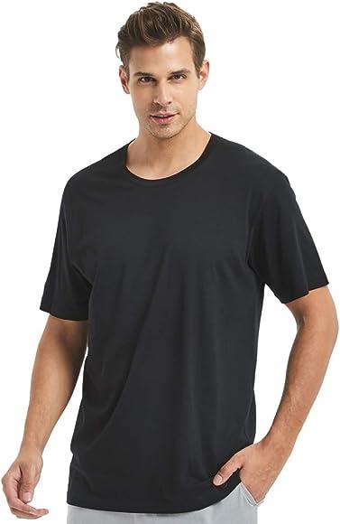bdf184d3 ever conForm Men's Pajama Sleep T-Shirt Modal Short Sleeve Pajama Top Loose  Soft Comfortable