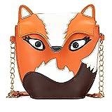 ANKKO Cute Fox Owl Satchel Messenger Women Shoulder Bag Girls Handbag Cross Body Purse