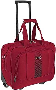 Rojo 50 cm Maleta Trolley 20 Litros Gabol