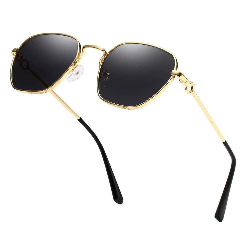 Unisex Sunglasses Retro Gold Grey Drive Holiday Oval Non-Polarized UV400