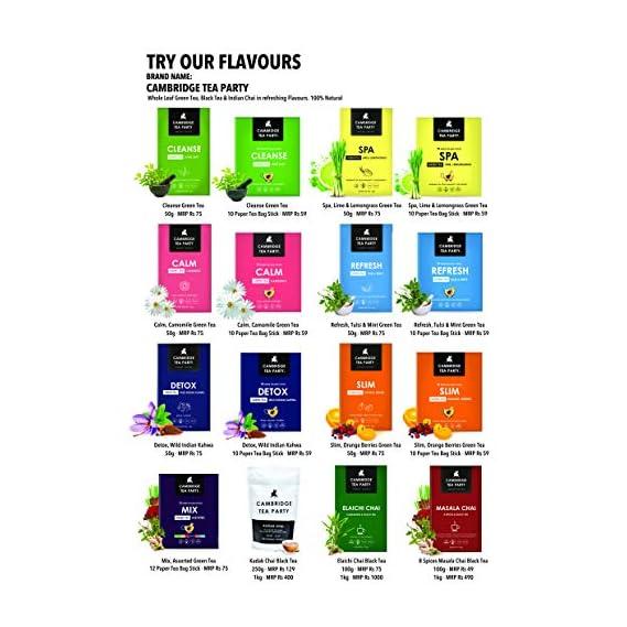 Cambridge Tea Party 60 Green Tea Bags Sampler, Cleanse, Spa, Calm, Detox, Slim, Refresh, 10 Tea Bags Each, 145 g