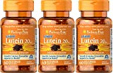 Puritan's Pride 3-pack of Lutigold Lutein 20mg 60 Softgels (180 Total) For Sale