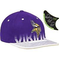 Reebok Minnesota Vikings Sideline Player Pro Shape Flat Brim Flex Hat