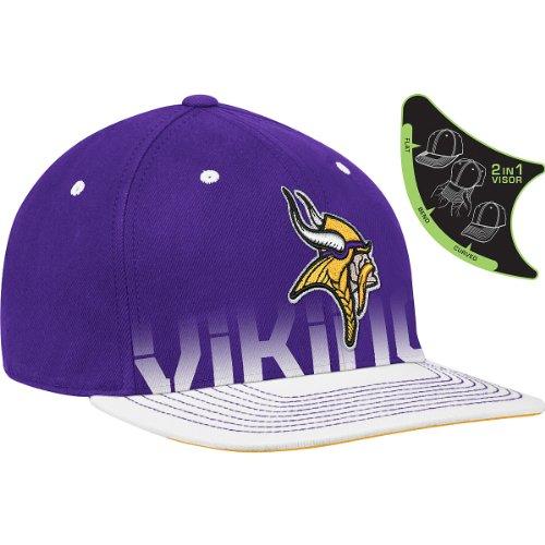Reebok Minnesota Vikings Sideline Player Pro Shape Flat Brim Flex Hat Small/Medium (Player Nfl Reebok Sideline)