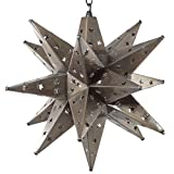 Moravian Star Light, Star Pierced Tin, Bronze, 15''