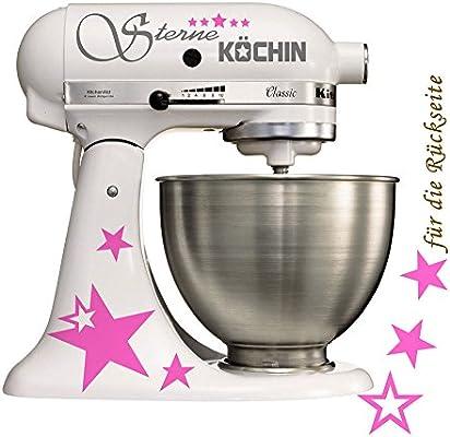 Accesorios de decoración de tatuaje de pegatinas para el robot de cocina de estrella de colour gris plateado con texto en alemán - - Colour de rosa: Amazon.es