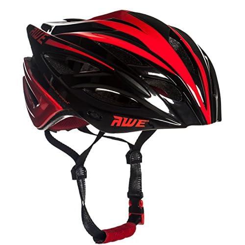 AWE® AWEBlade™ REMPLACEMENT DE CRASH GRATUIT 5 ANS * Moule adulte hommes en cyclisme sur route casque 58-61cm Noir rouge