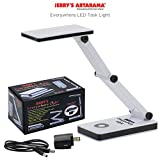 Jerry's Everywhere Flexible Portable 24 LED Task Lamp with 3 Adjustable Dimmable Levels of Light Brightness, Includes AC/USB Power Supply (Optional AA Battery)