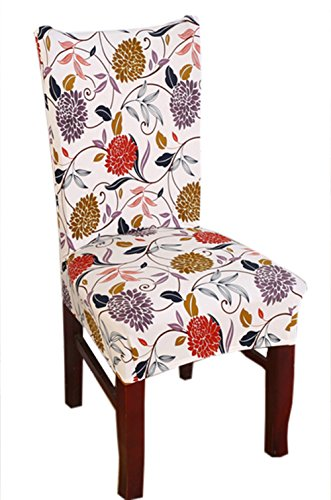 Stretch Removable Washable Short Dining Chair Cover Protector Seat Slipcover (4)