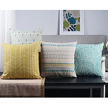 【Bailand】Set of 4 Modern Geometric Country Cushion coverSofa cushion Car Office